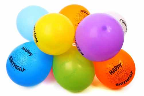 party rubber colorful balloon